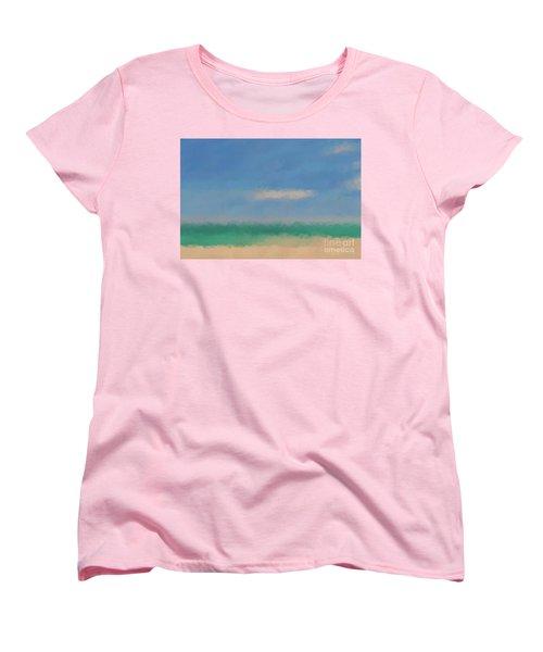 Beach Scene 6. Modern Decor Collection Women's T-Shirt (Standard Cut) by Mark Lawrence