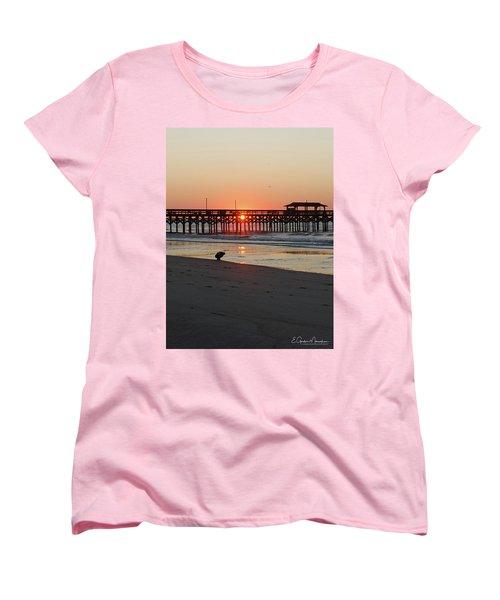 Beachcomber Women's T-Shirt (Standard Cut) by Gordon Mooneyhan