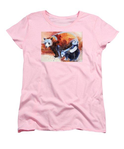 Bear Family Outing Women's T-Shirt (Standard Cut) by Kathy Braud