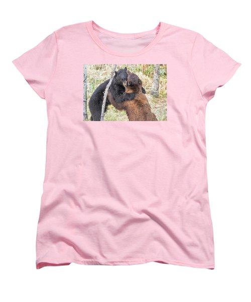 Bear Hug Women's T-Shirt (Standard Cut) by Marc Crumpler