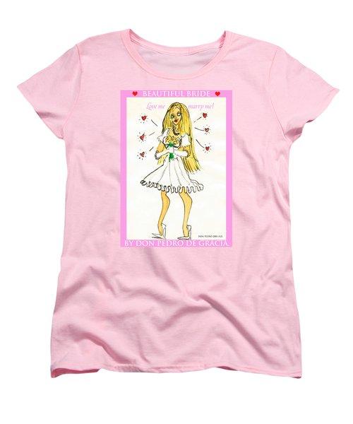 Beautiful Bride Women's T-Shirt (Standard Cut) by Don Pedro De Gracia