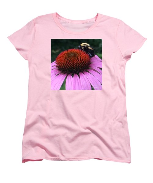 Bee On Flower By Saribelle Rodriguez Women's T-Shirt (Standard Cut) by Saribelle Rodriguez