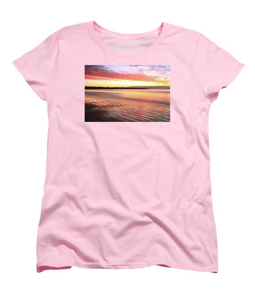 Before Sunrise At First Beach Women's T-Shirt (Standard Cut) by Roupen  Baker