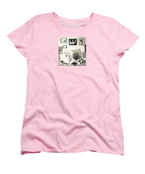 Women's T-Shirt (Standard Cut) featuring the photograph Behind The Barber Chair by Joe Jake Pratt