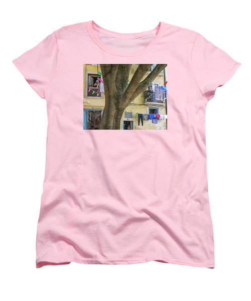 Women's T-Shirt (Standard Cut) featuring the photograph Behind The Tree by Patricia Schaefer