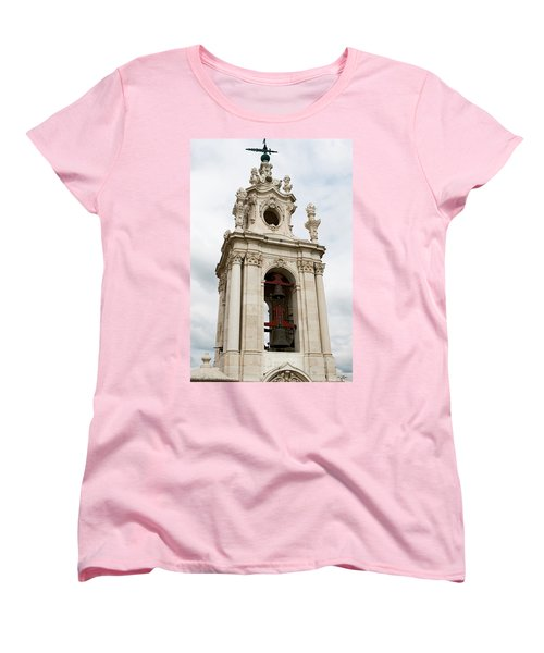 Bell Tower With Red   Women's T-Shirt (Standard Cut) by Lorraine Devon Wilke