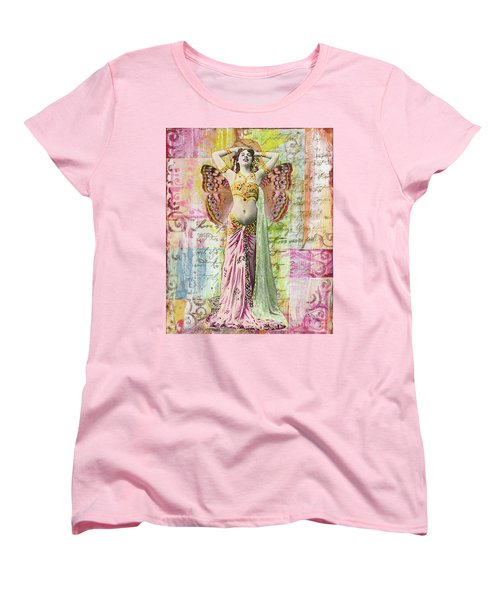 Women's T-Shirt (Standard Cut) featuring the mixed media Belly Dancer by Desiree Paquette