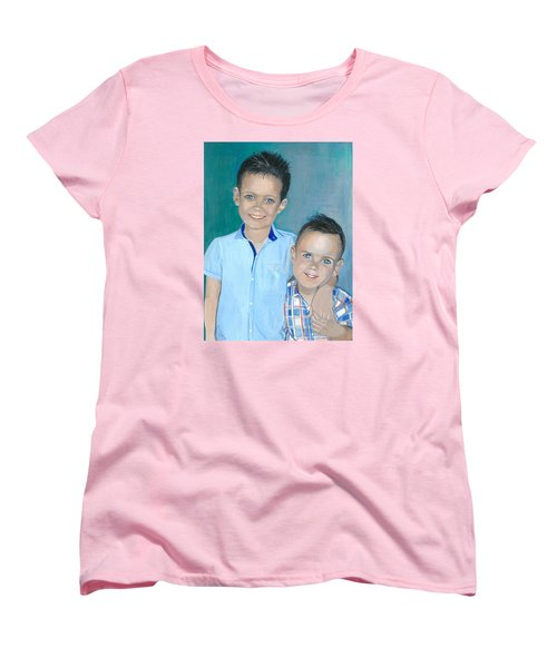 Best Brothers - Painting Women's T-Shirt (Standard Cut) by Veronica Rickard