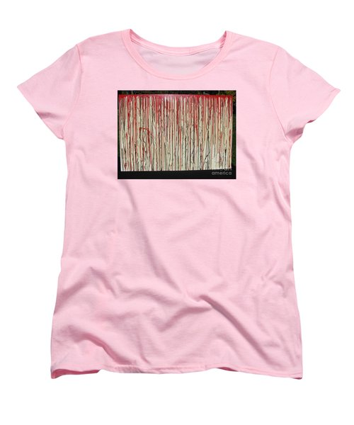 Women's T-Shirt (Standard Cut) featuring the painting Betrayal by Jacqueline Athmann
