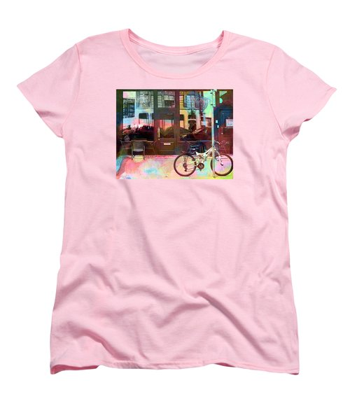 Women's T-Shirt (Standard Cut) featuring the digital art Bike Ride To Runyons by Susan Stone