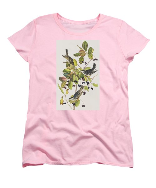 Black Poll Warbler Women's T-Shirt (Standard Cut) by John James Audubon