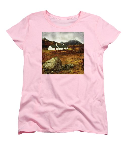 Blackrock Cottage Glencoe Women's T-Shirt (Standard Cut) by Jacqi Elmslie