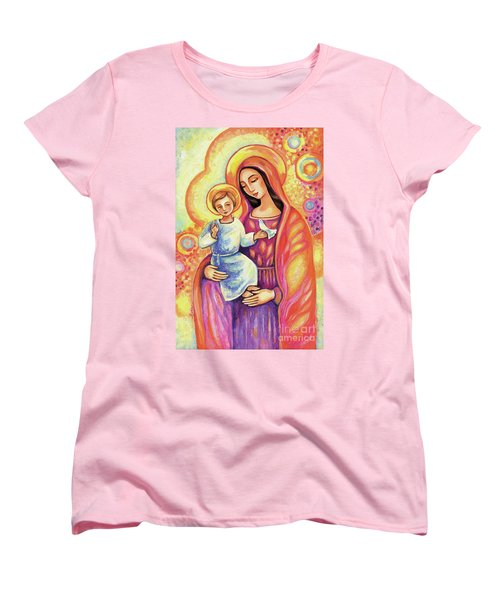 Women's T-Shirt (Standard Cut) featuring the painting Blessing Of The Light by Eva Campbell