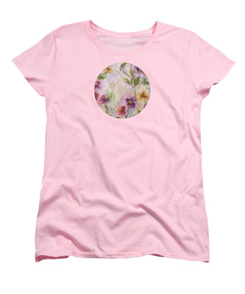 Women's T-Shirt (Standard Cut) featuring the painting Bloom by Mary Wolf