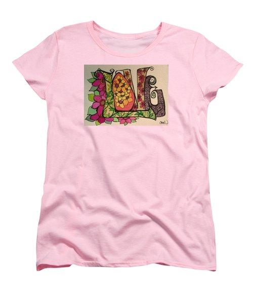Blooming Love Women's T-Shirt (Standard Cut) by Claudia Cole Meek