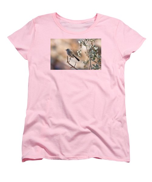 Women's T-Shirt (Standard Cut) featuring the photograph Black-tailed Gnatcatcher by Dan McManus