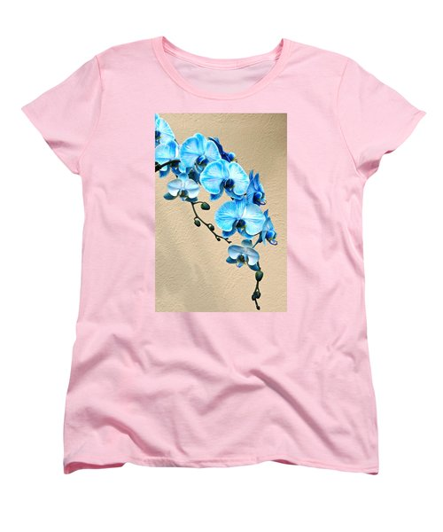 Blue Mystique Orchid Women's T-Shirt (Standard Cut) by Byron Varvarigos