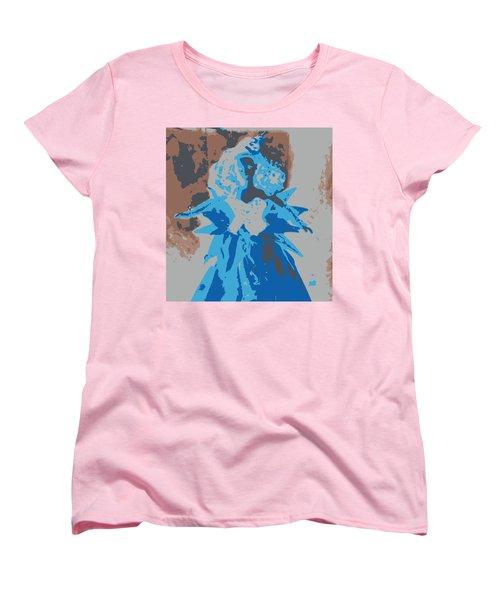 Blue Sunflower Barbie Women's T-Shirt (Standard Cut) by Karen J Shine