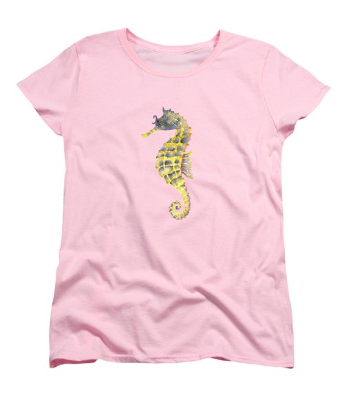 Blue Yellow Seahorse - Square Women's T-Shirt (Standard Cut)