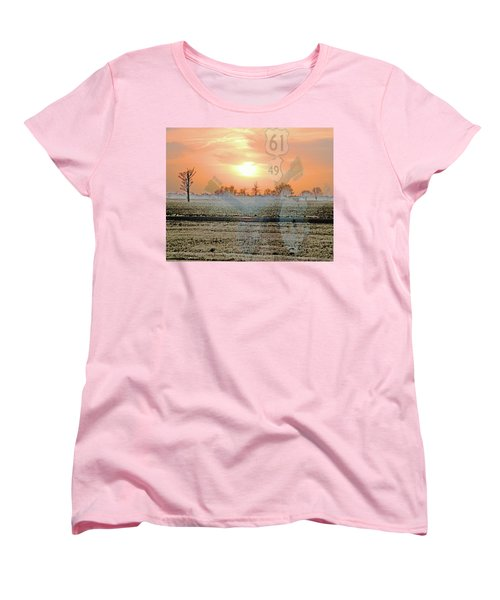 Blues Trail Women's T-Shirt (Standard Cut) by Lizi Beard-Ward