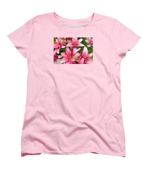 Blush Of The Blossoms Women's T-Shirt (Standard Cut) by Randy Rosenberger