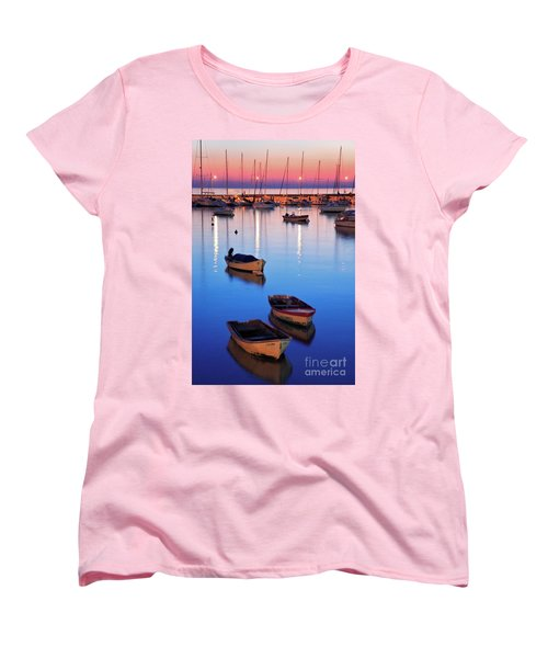 Women's T-Shirt (Standard Cut) featuring the photograph Boats by Bernardo Galmarini