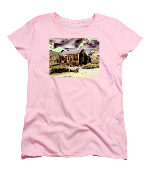 Women's T-Shirt (Standard Cut) featuring the photograph Bodie House by Jim and Emily Bush