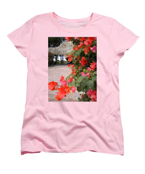 Women's T-Shirt (Standard Cut) featuring the painting Bouganvilla 2 by Renate Nadi Wesley