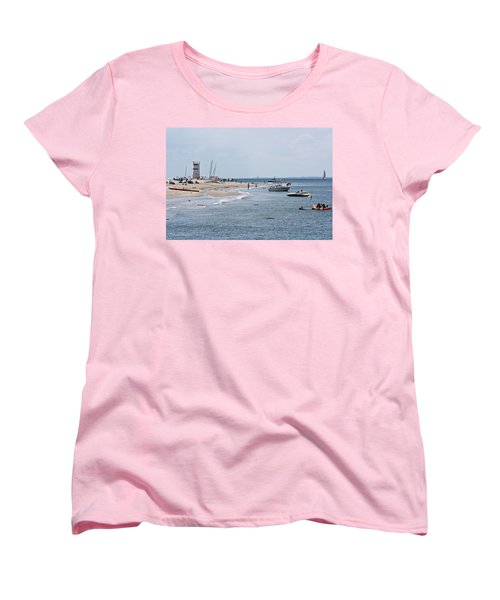 Women's T-Shirt (Standard Cut) featuring the photograph Breezy Point Lighthouse by Ann Murphy