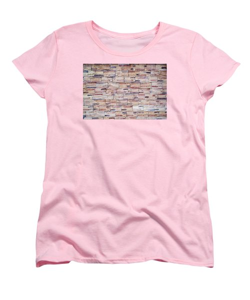 Women's T-Shirt (Standard Cut) featuring the photograph Brick Tiled Wall by John Williams