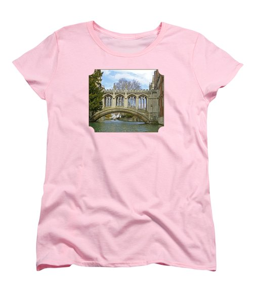 Bridge Of Sighs Cambridge Women's T-Shirt (Standard Cut) by Gill Billington