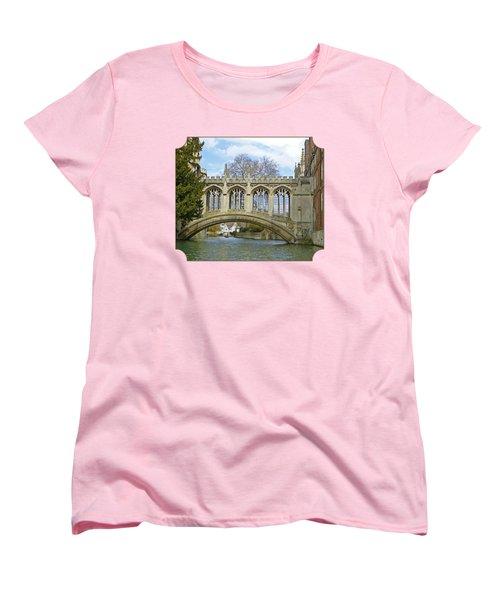 Bridge Of Sighs Cambridge Women's T-Shirt (Standard Cut) by Gill Billington