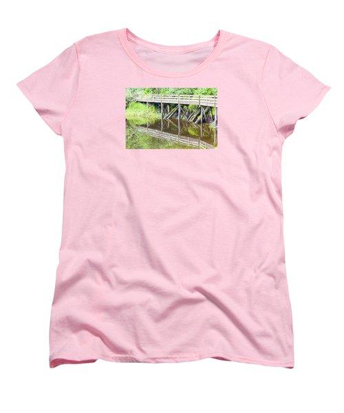 Bridge To Nowhere Women's T-Shirt (Standard Cut) by Harold Piskiel