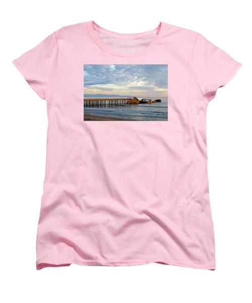 Broken Boat, Ss Palo Alto Women's T-Shirt (Standard Cut) by Amelia Racca