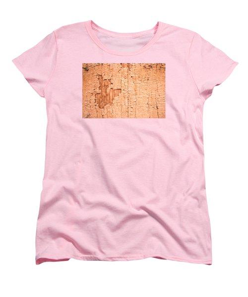Women's T-Shirt (Standard Cut) featuring the photograph Brown Paint Texture by John Williams