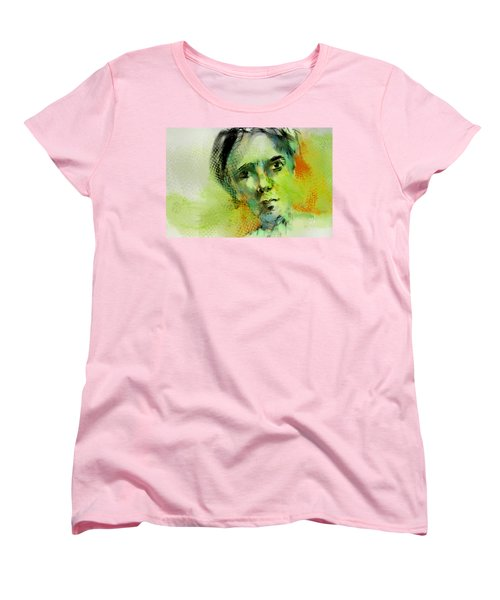 Women's T-Shirt (Standard Cut) featuring the painting Bryant by Jim Vance