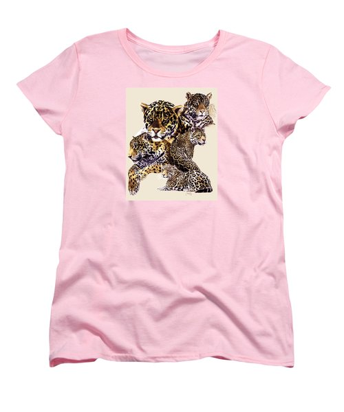 Women's T-Shirt (Standard Cut) featuring the drawing Burn by Barbara Keith