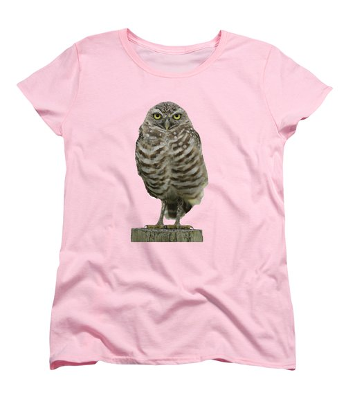 Burrowing Owl Lookout Women's T-Shirt (Standard Cut) by Bradford Martin