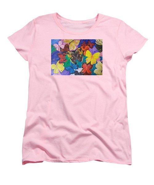 Butterflies Women's T-Shirt (Standard Cut) by Rita Fetisov