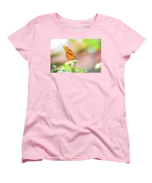 Butterfly - Julie Heliconian Women's T-Shirt (Standard Cut) by Pamela Williams