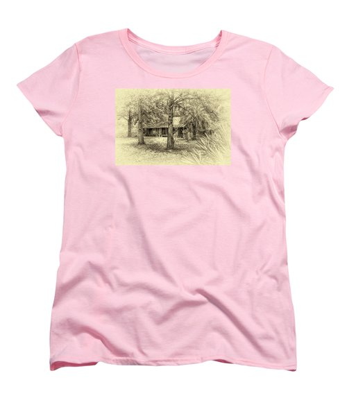 Women's T-Shirt (Standard Cut) featuring the photograph Cabin In The Woods by Louis Ferreira