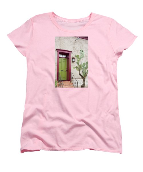 Cactus And Doorway Women's T-Shirt (Standard Cut) by Elvira Butler