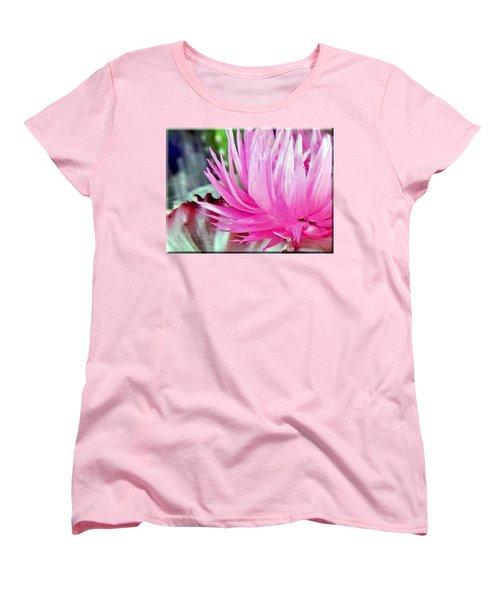Cactus Flower Women's T-Shirt (Standard Cut) by Mikki Cucuzzo