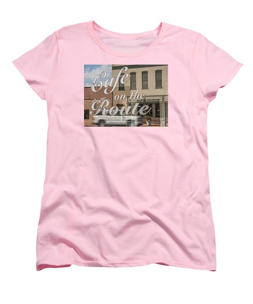 Cafe On The Route Women's T-Shirt (Standard Cut) by Sue Smith