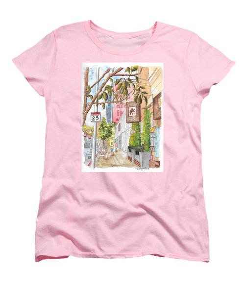 Cafee Primo In Sunset Plaza, West Hollywood, California Women's T-Shirt (Standard Cut) by Carlos G Groppa
