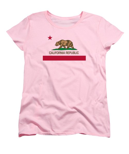 California Republic State Flag Authentic Version Women's T-Shirt (Standard Cut) by Bruce Stanfield