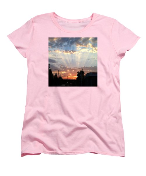 #california #sunset #nature Women's T-Shirt (Standard Cut) by Jennifer Beaudet