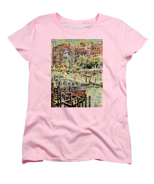 Women's T-Shirt (Standard Cut) featuring the painting Canale Grande by Alfred Motzer