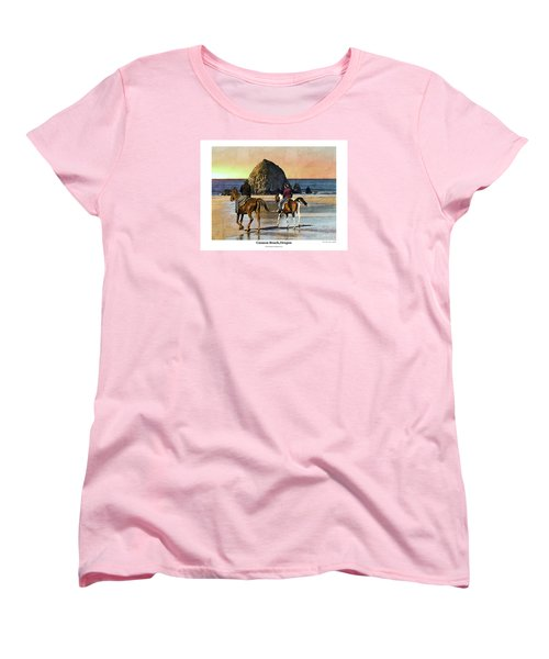 Women's T-Shirt (Standard Cut) featuring the photograph Cannon Beach by Kenneth De Tore