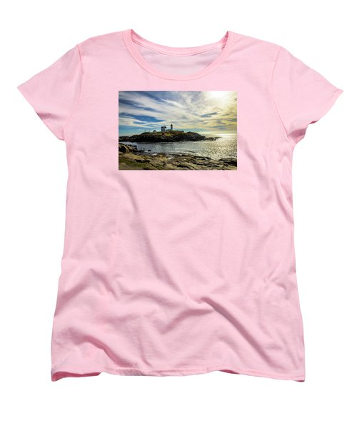 Cape Neddick Lighthouse Women's T-Shirt (Standard Cut) by Sherman Perry